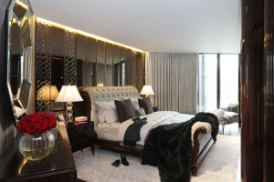 One Hyde Park Master Bedroom Suite