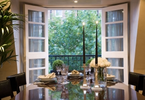 Casa Forma Luxury Interior Design Dining Table Near French Windows