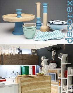 Casa Forma Decorex Show Blue Kitchen Cups, Saucers, Tea Towel & Toilet Plunger