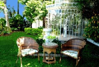 casa forma colonial mansion brazil garden furniture and chairs