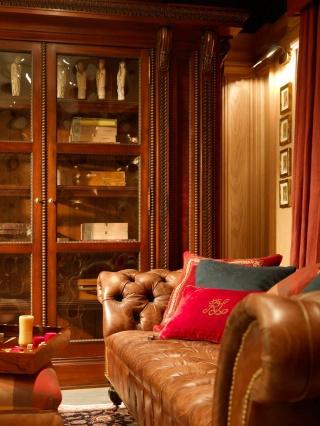 casa forma billingbear polo club tan brown leather sofa