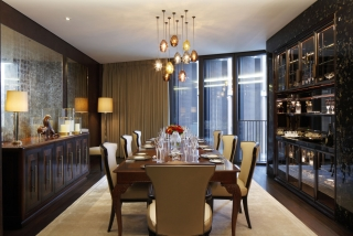 casa forma one hyde park knightsbridge dining room designer pendant lighting