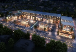 casa forma riyadh boutique hotel aerial night view