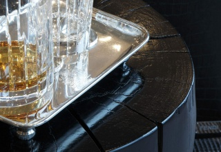 casa forma kensington place silver drinks tray