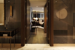 casa forma one hyde park knightsbridge master bedroom entrance