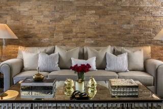 the retreat new delhi 4 seater sofa, glass top coffee table
