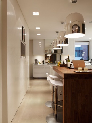 casa forma kensington place kitchen island and stools & lighting