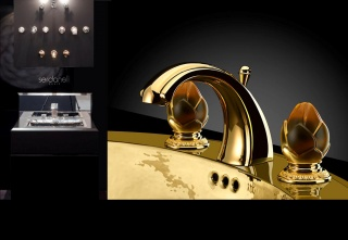 casa forma serdaneli stand gold taps