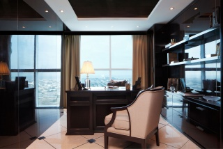 casa forma dubai office sheikh zayed road luxury writing desk and chair