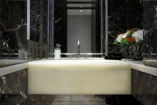 casa forma luxury interior design marble countertop bathroom basin in kensington gardens london