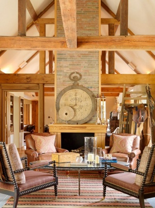 casa forma billingbear polo club colonial armchairs and clock