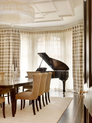 casa forma down street mayfair dining room piano