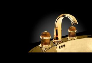 casa forma serdaneli stand gold sink taps