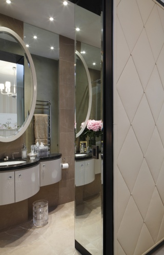 casa forma mayfair luxury nursery ensuite bathroom mirror